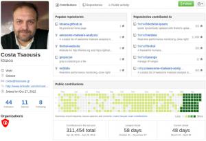 Netdata Author profile on Github