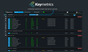 pm2 keymetrics dashboard, as advertised on their site